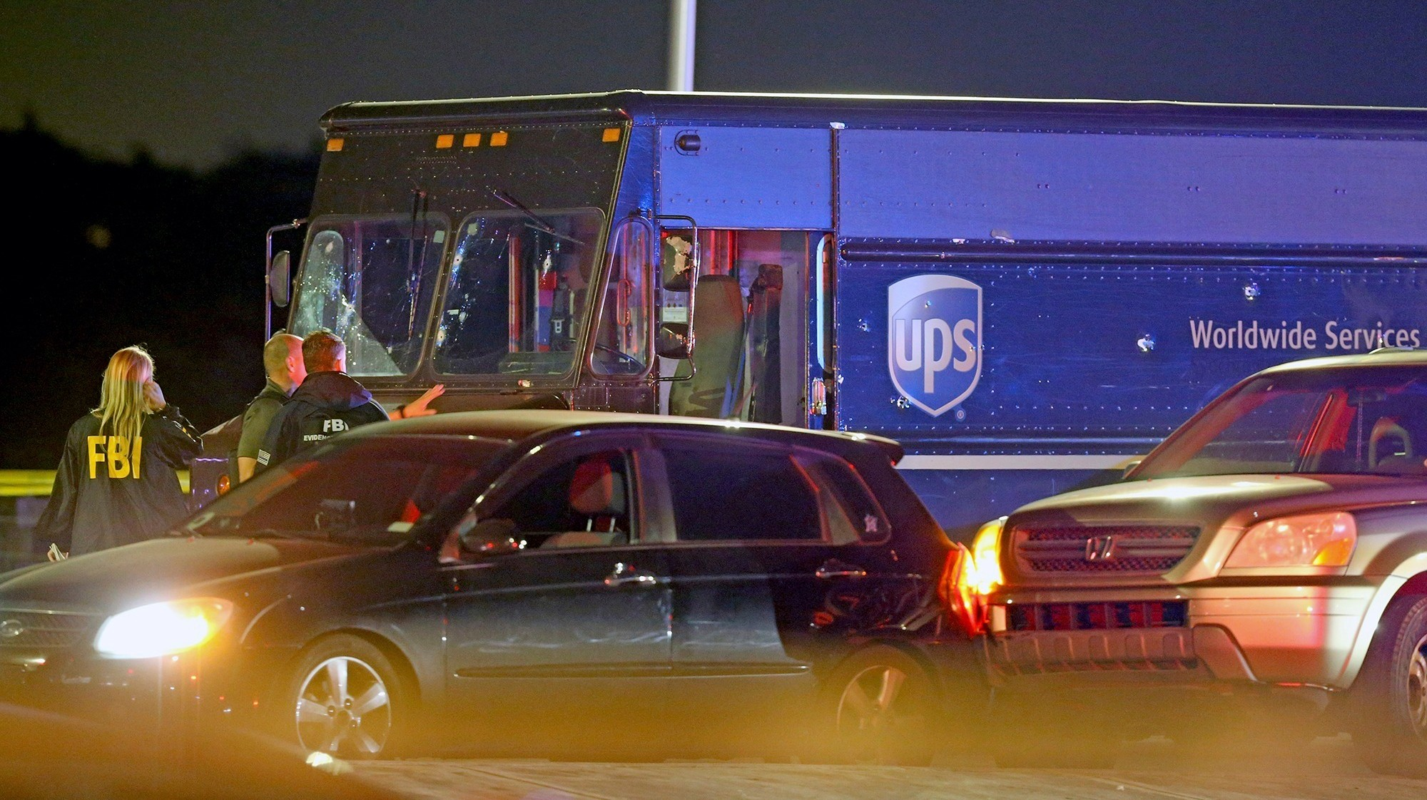 , A UPS Driver and Bystander Were Killed in a Police Shootout Over the Driver's Hijacked Truck, Saubio Making Wealth