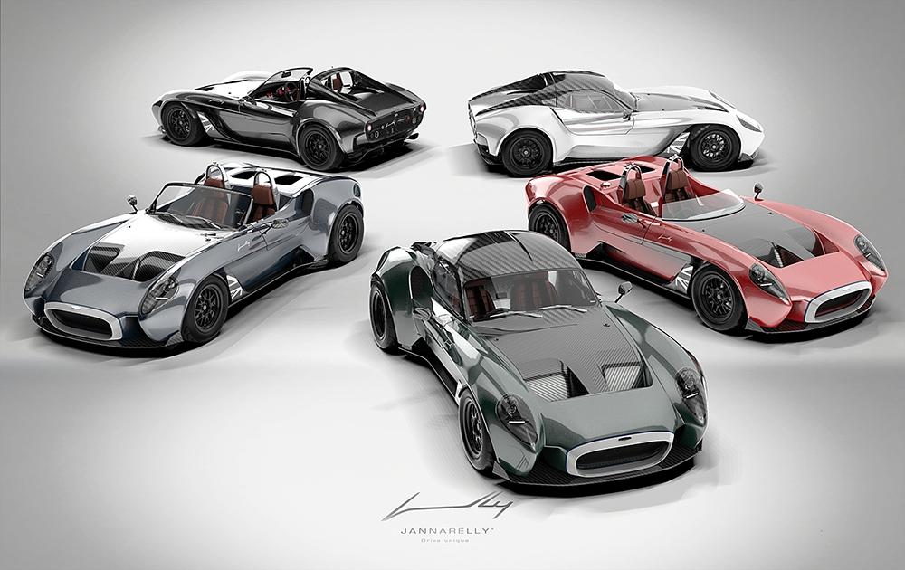 , Stunning Jannarelly Design-1 sports car goes on sale in the UK, Saubio Making Wealth