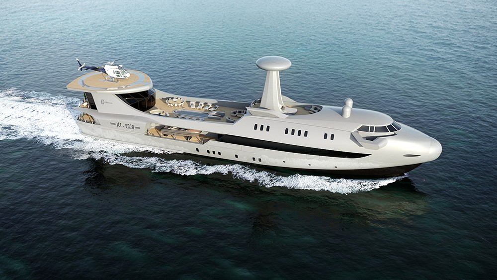 , Codecasa Jet 2020, a luxury yacht inspired by aviation, Saubio Making Wealth