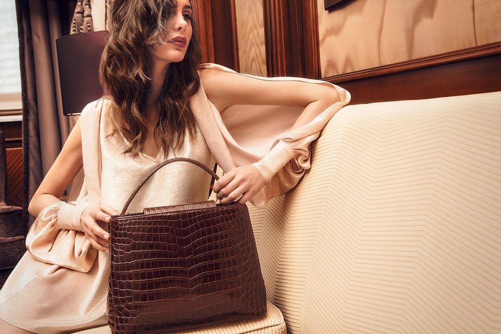 , Italian Luxury Brand, LAURU, showcases their Exotic Handbags, Saubio Making Wealth