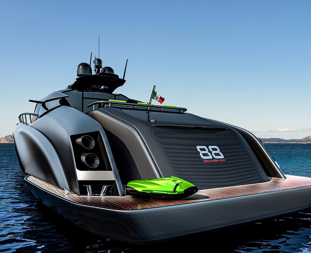 , Officina Armare Unveils The Superyacht Concept A88 Gransport, Saubio Making Wealth