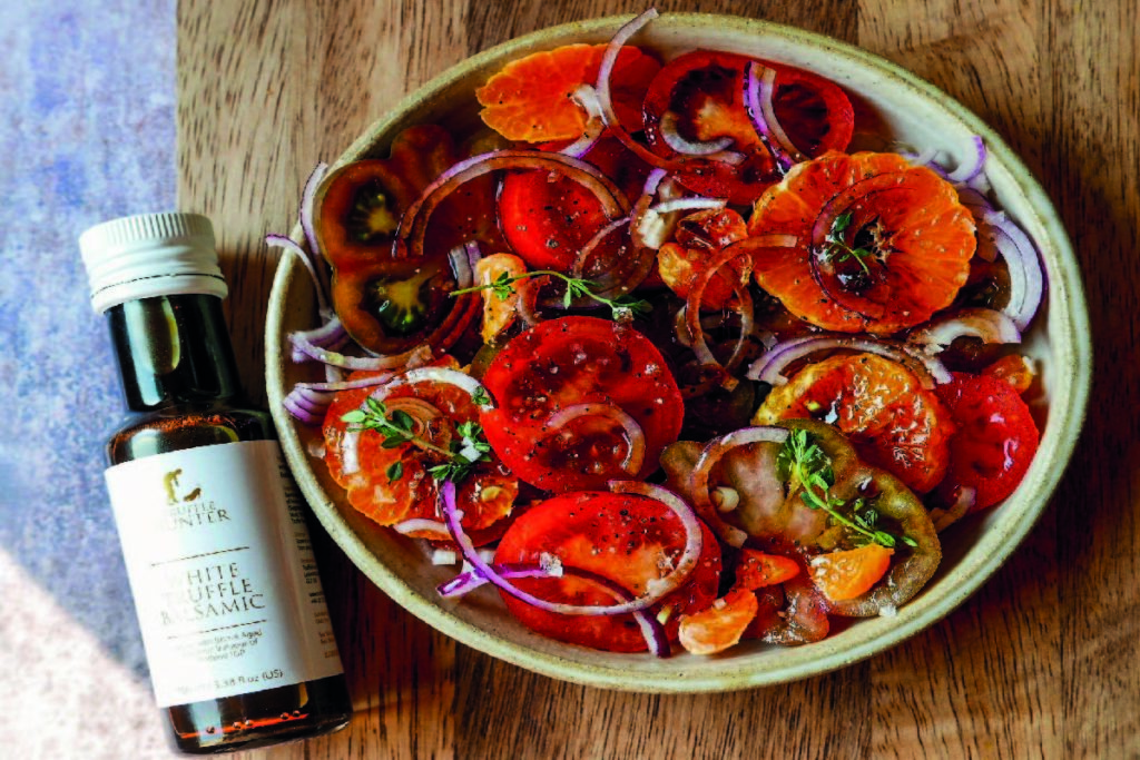 , Truffle Tomato and Orange Salad Recipe, Saubio Making Wealth