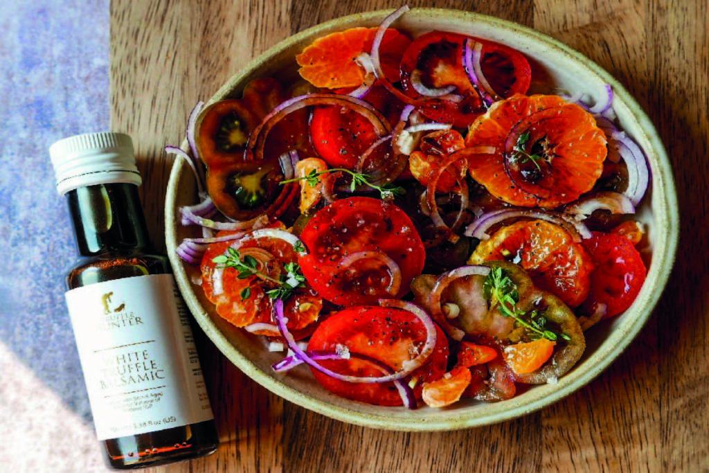 , Truffle Tomato and Orange Salad Recipe, Saubio Making Wealth