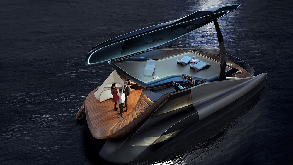 , Icona unveils an electric and asymmetrical Fibonacci catamaran design, Saubio Making Wealth