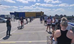 , Coronavirus: Customers queue for hours as Ikea reopens 19 shops, Saubio Making Wealth