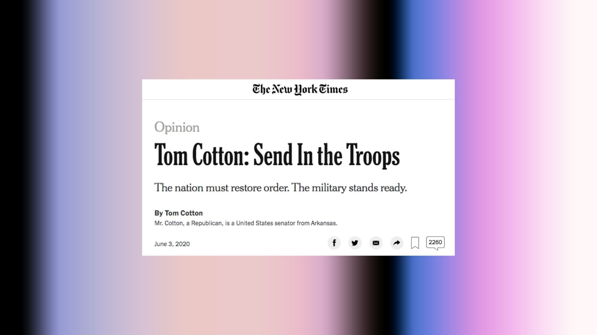 , 'New York Times' Staffers Grill Leadership Over Tom Cotton Op-Ed During All-Hands, Saubio Making Wealth