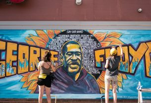 , The White Guy Who Vandalized George Floyd's Mural Was Caught by Locals — Not Cops, Saubio Making Wealth