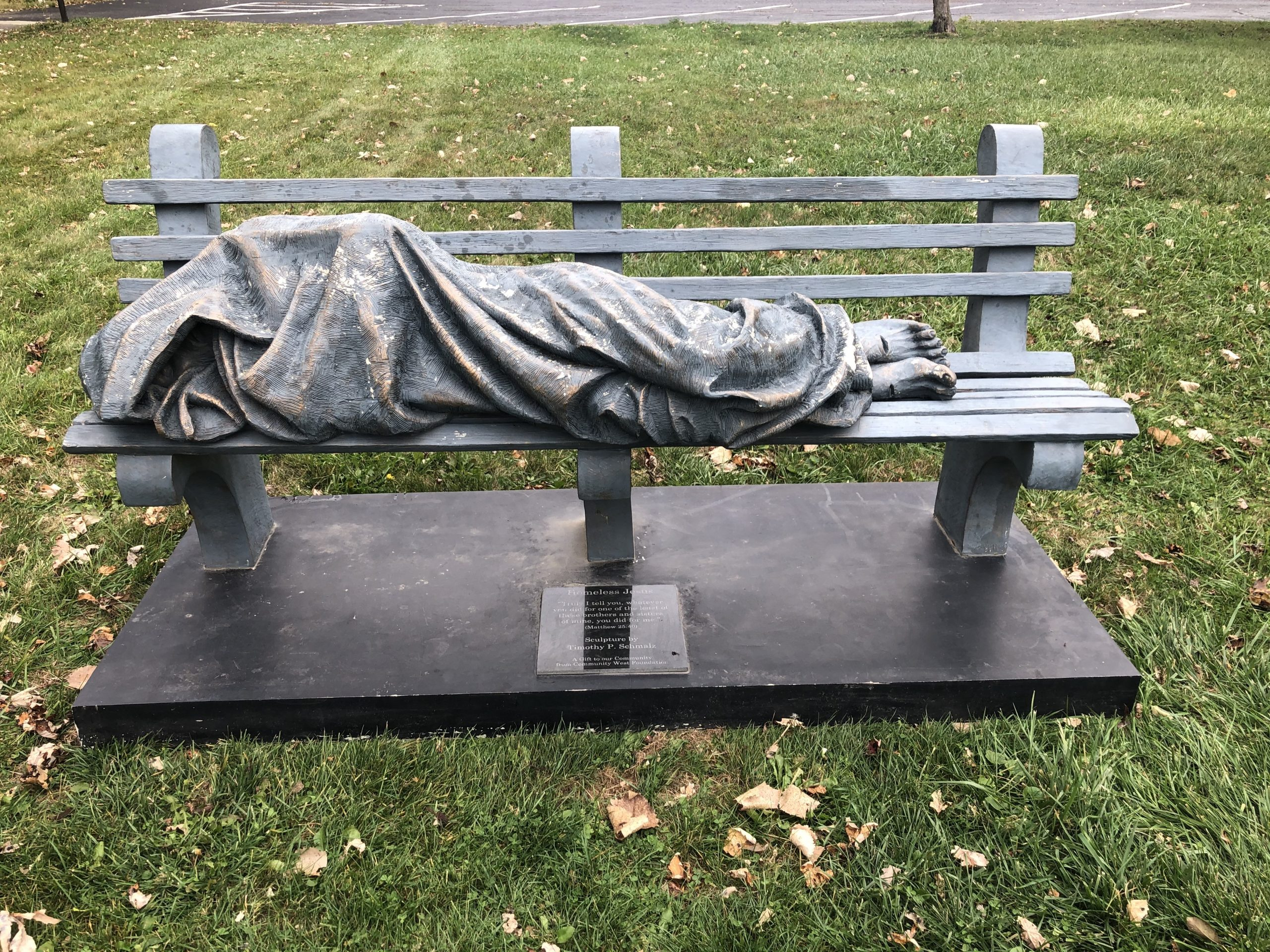 , A Short History of People Calling the Cops on a Statue of 'Homeless Jesus', Saubio Making Wealth