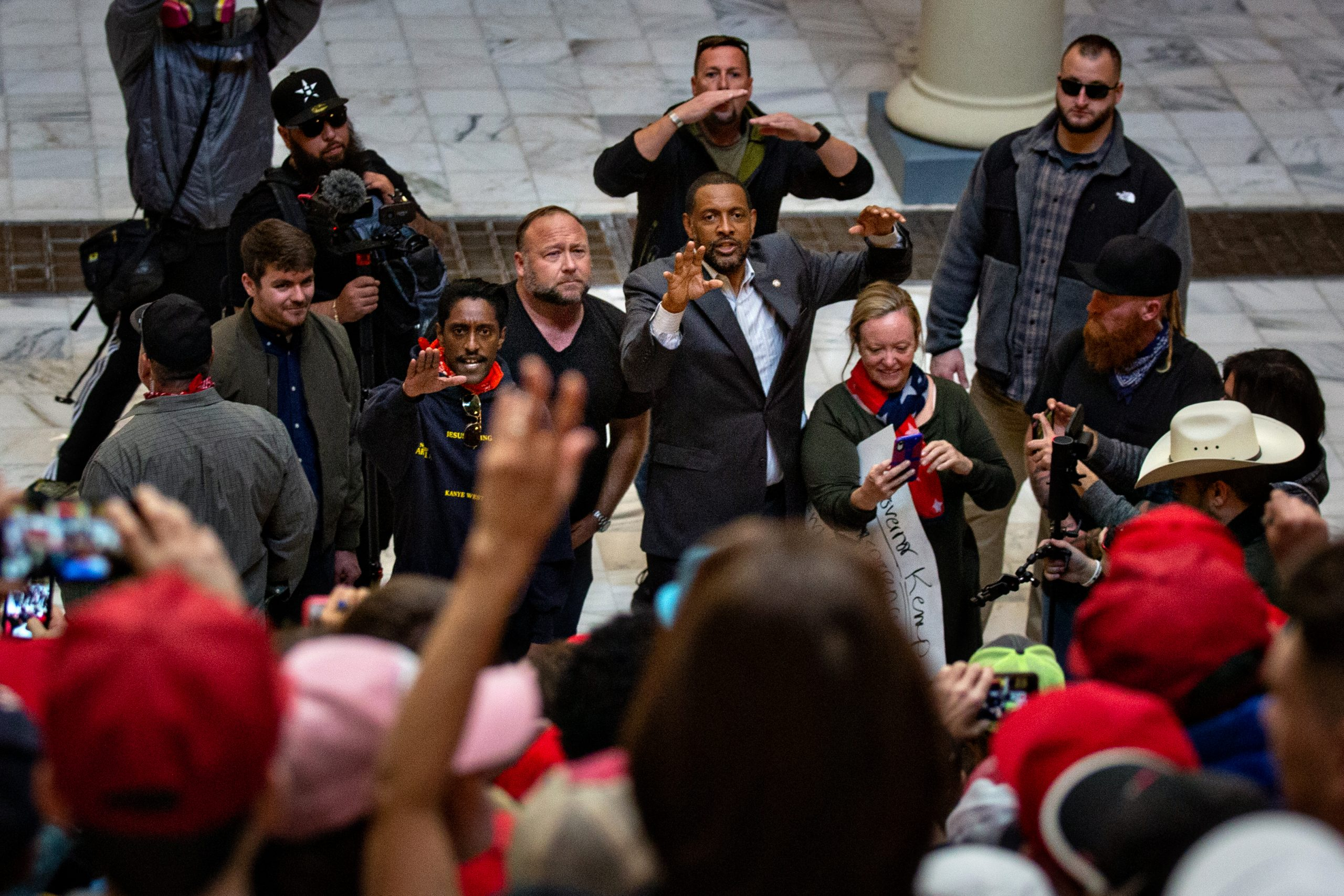 , Pro-Trump Rally Organizer Name-Checks Theory Pushed by Violent Extremists, Saubio Making Wealth