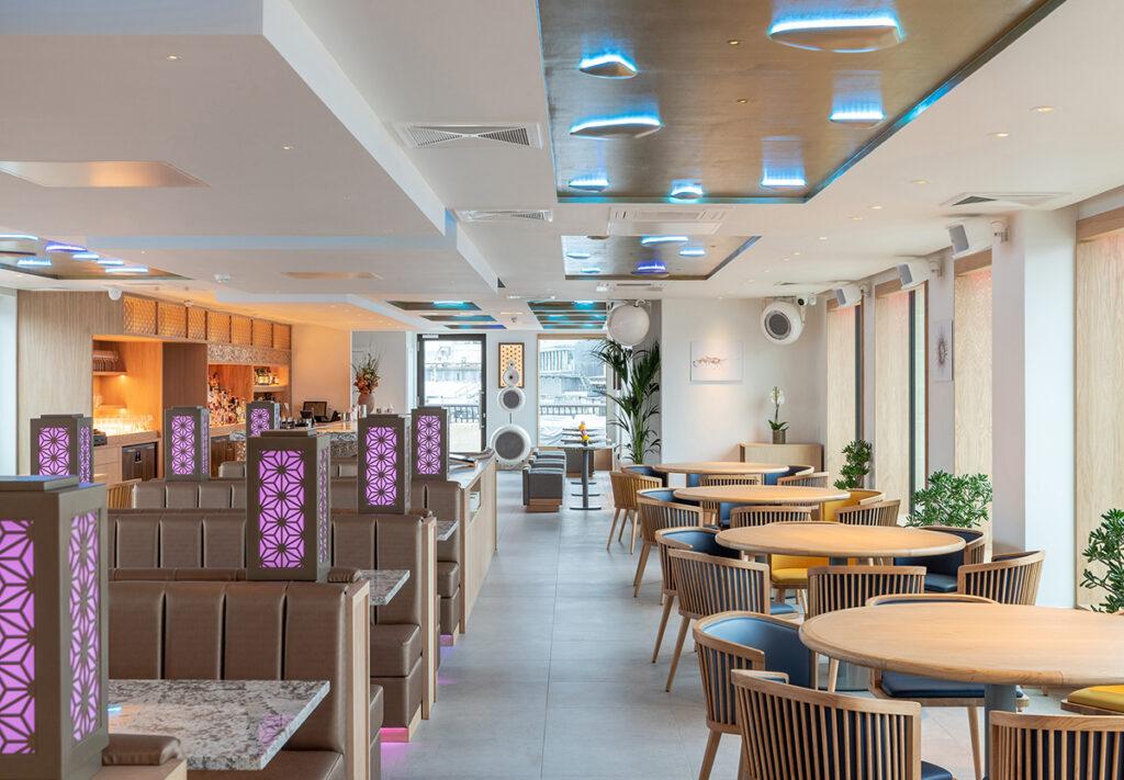 , Ben Adams Architects design a Rooftop Restaurant in London, Saubio Making Wealth