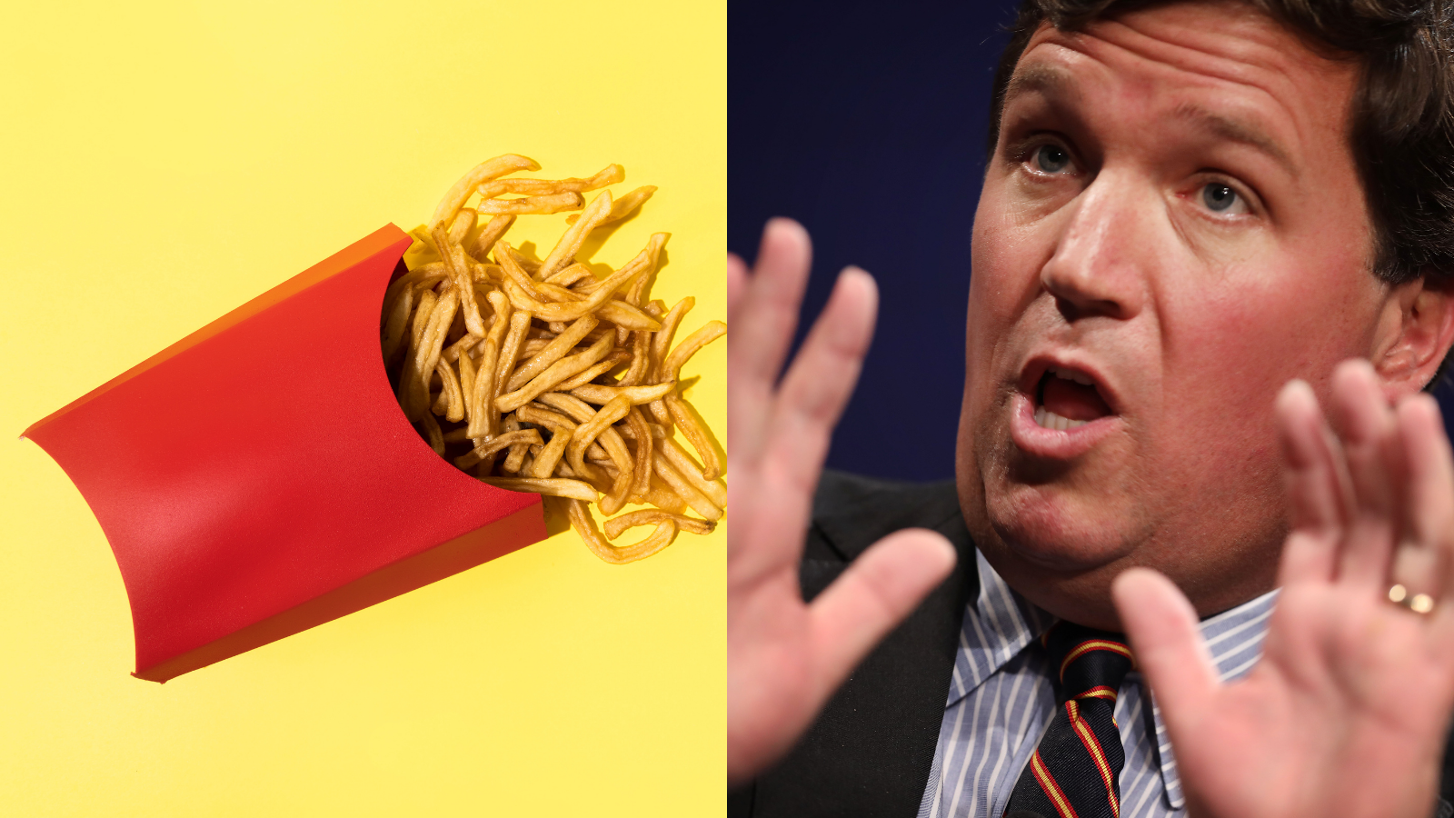 , Tucker Carlson Is Big Mad You Can Get Free Fries With a COVID Vaccine, Saubio Making Wealth